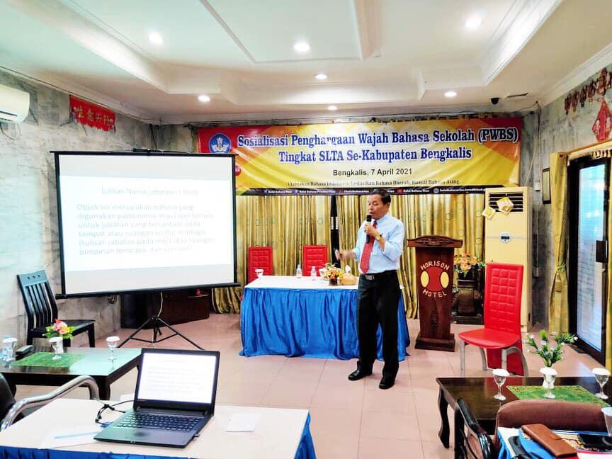 Sosialisasi Penghargaan Wajah Bahasa Sekolah (PWBS) Tingkat SLTA Se-Kabupaten Bengkalis
