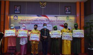 Pemenang Lomba Pidato Berbahasa Indonesia Tingkat SMP Sederajat Se-Provinsi Riau Tahun 2021